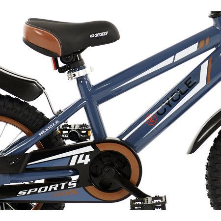 2Cycle Jongensfiets 14 inch Sports (1422)