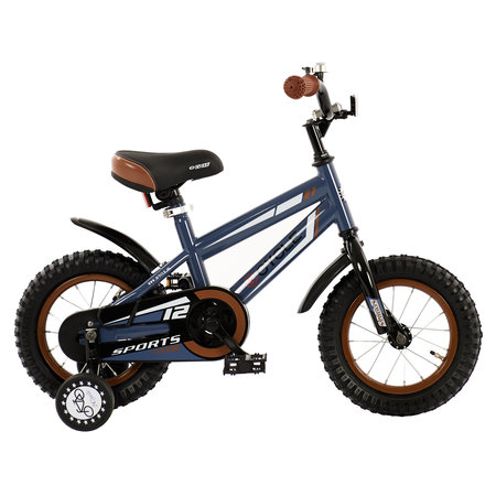 2Cycle 2Cycle Sports Kinderfiets - 12 inch - Grijs-Blauw