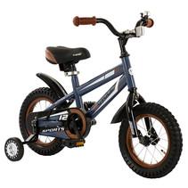 2Cycle Sports Kinderfiets - 12 inch - Grijs-Blauw