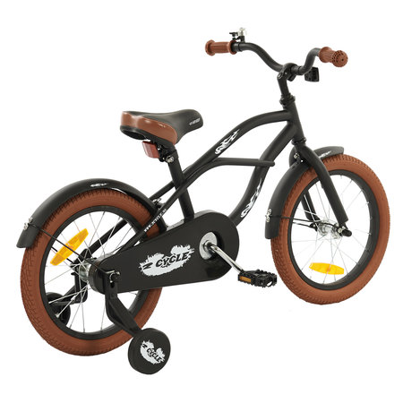 2Cycle 2Cycle Cruiser Kinderfiets - 16 inch - Mat-Zwart - 2e