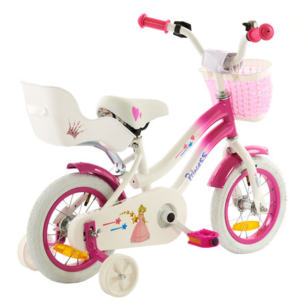 2Cycle 2Cycle Princess Kinderfiets -12 inch - Poppenzitje- Roze