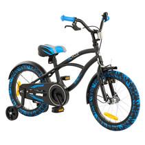 2Cycle Cruiser Kinderfiets - 16 inch-Zwart-Blauw