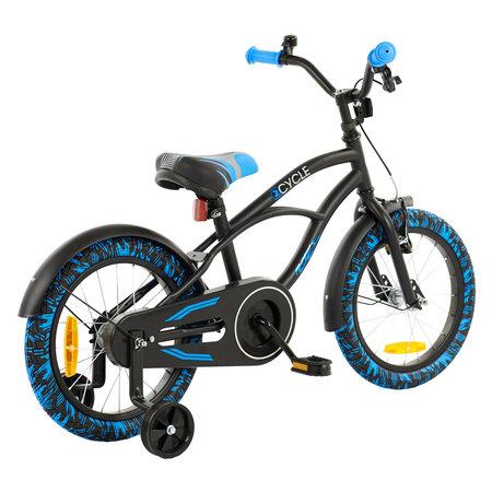 2Cycle 2Cycle Cruiser Kinderfiets - 16 inch-Zwart-Blauw - 2e