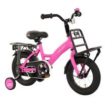 Sajan Kinderfiets - 12 inch - Mat-Roze