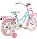 2Cycle 2Cycle Cargo Kinderfiets - 14 inch - Turquoise-Roze