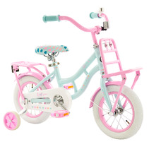 2Cycle Cargo Kinderfiets - 12 inch - Turquoise-Roze