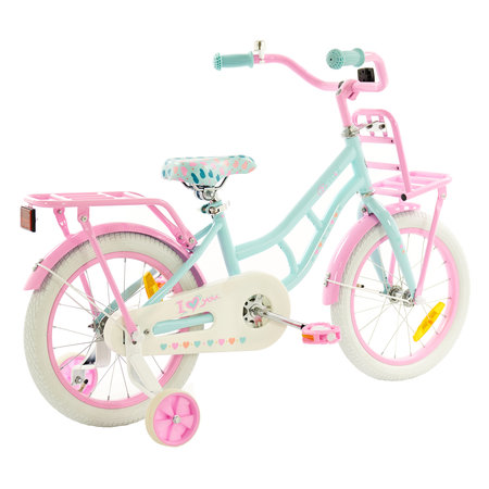 2Cycle 2Cycle Cargo Kinderfahrrad - 16 Zoll - Türkis-Pink