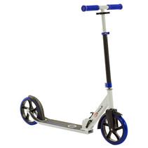 2Cycle Step - Aluminium - Große Räder - 20cm -Blau-Weiß