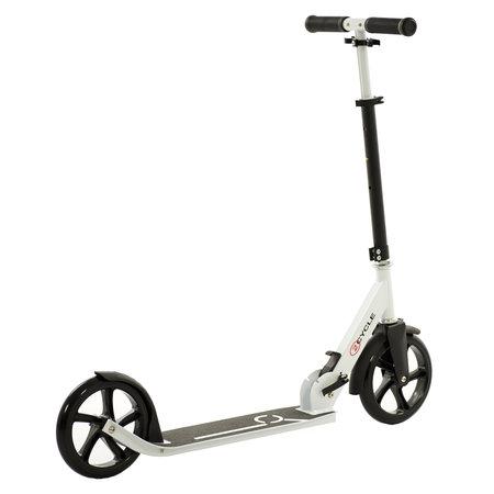 2Cycle 2Cycle Step - Aluminium - Große Räder - 20cm -Schwarz-Weiß