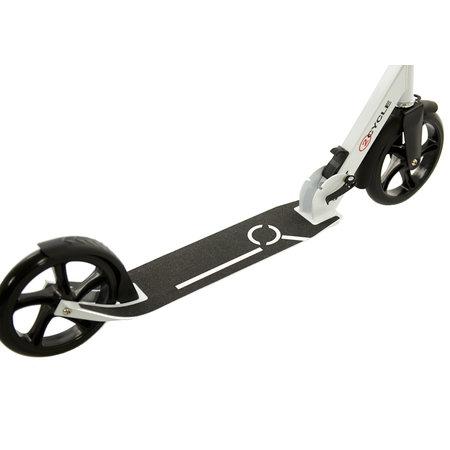 2Cycle 2Cycle Step - Aluminium -  Grote Wielen - 20cm -Zwart-Wit