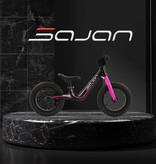 Sajan Sajan Loopfiets - Magnesium - Zwart-Roze