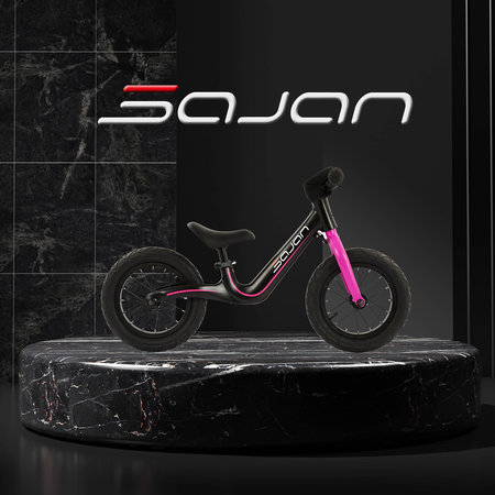 Sajan Sajan Laufrad - Magnesium - Schwarz-Pink