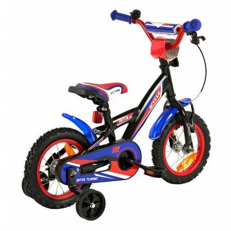 2Cycle 2Cycle BMX Kinderfiets - 12 inch - Blauw-Rood -2e