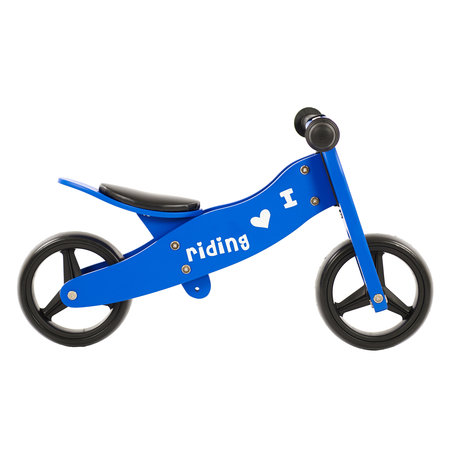 2Cycle 2Cycle 2 in 1 Loopfiets/Driewieler - Hout - Blauw