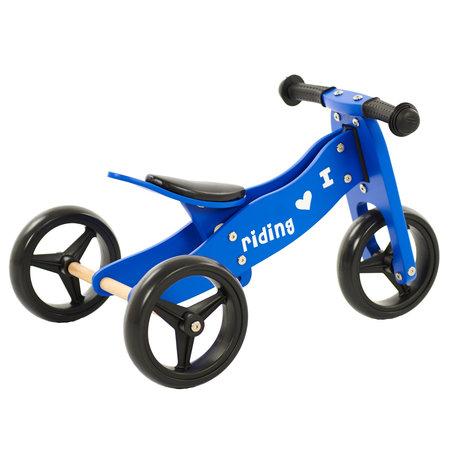 2Cycle 2Cycle 2 in 1 Laufrad / Dreirad - Holz - Blau