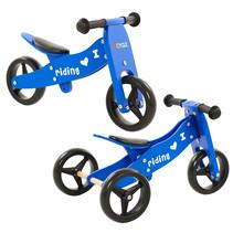 2Cycle 2 in 1 Laufrad / Dreirad - Holz - Blau