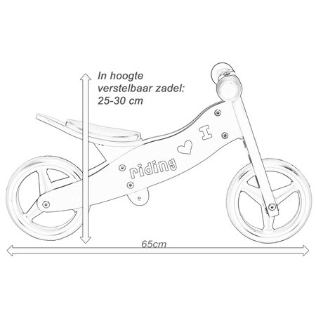 2Cycle 2Cycle 2 in 1 Loopfiets/Driewieler - Hout - Zwart