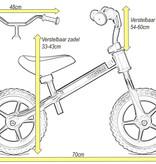 2Cycle 2Cycle Loopfiets - Zilver-Bruin