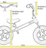 2Cycle 2Cycle Loopfiets - Mat-Grijs