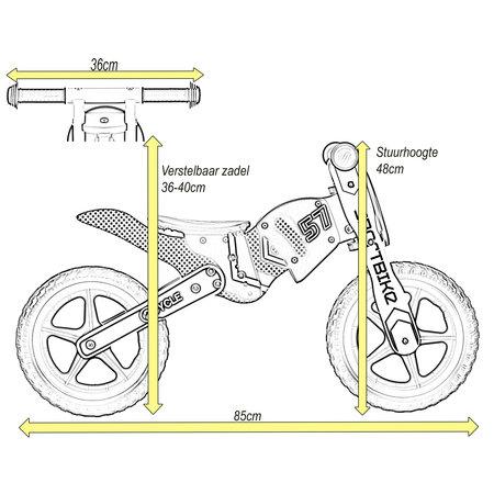 2Cycle 2Cycle Motor  Loopfiets - Hout - Geel