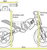 2Cycle 2Cycle Motor  Loopfiets - Hout - Rood