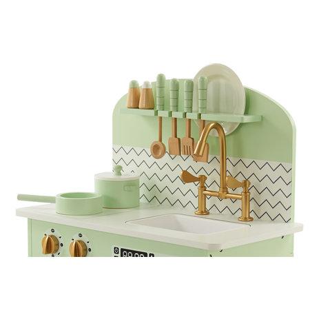 P&M P&M  Kinderkeuken - Hout - Blauw - Mint-Groen
