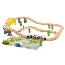 Holzeisenbahn 44 Stück