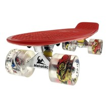 2Cycle Skateboard - LED Räder - 22,5 Zoll - Rot