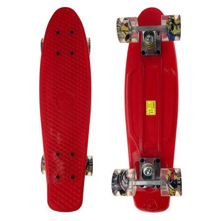 2Cycle 2Cycle Skateboard - LED Wielen - 22.5 inch - Rood