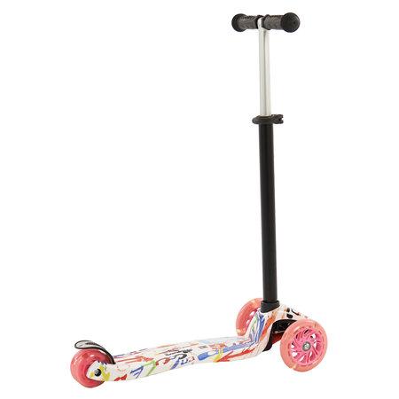 Sajan Sajan Kinderscooter - Dreiradscooter  - LED-Räder - Graffiti
