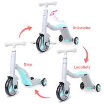 2Cycle 3 in 1 Loopfiets/Driewieler/Step -  Grijs