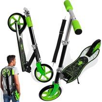 2Cycle Scooter - Aluminium - Große Räder - 20 cm - Grün