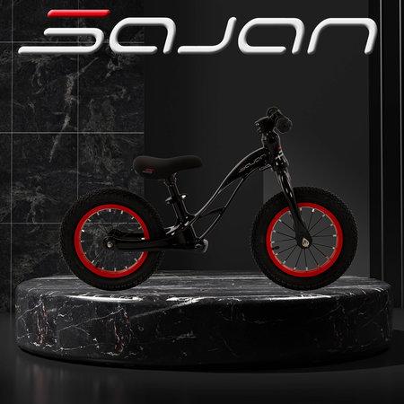 Sajan Sajan Loopfiets - Aluminium - Zwart