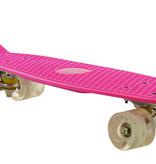 2Cycle 2Cycle Skateboard - LED-Räder - 22,5 Zoll - Rosa-Weiß