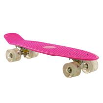 2Cycle Skateboard - LED-Räder - 22,5 Zoll - Rosa-Weiß