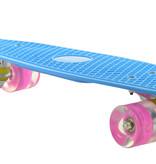 Sajan Sajan Skateboard - LED-Räder - 22,5 Zoll - Blau-Rosa
