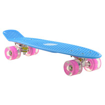 2Cycle Skateboard - LED-Räder - 22,5 Zoll - Blau-Rosa