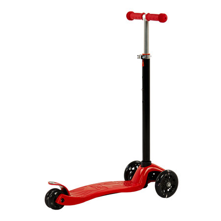 Sajan Sajan  Kinderscooter - Dreiradscooter  - LED-Räder - Rot