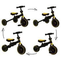2Cycle 4 in 1 Driewieler-Loopfiets - Geel