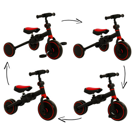 2Cycle 2Cycle 4 in 1 Driewieler-Loopfiets - Rood