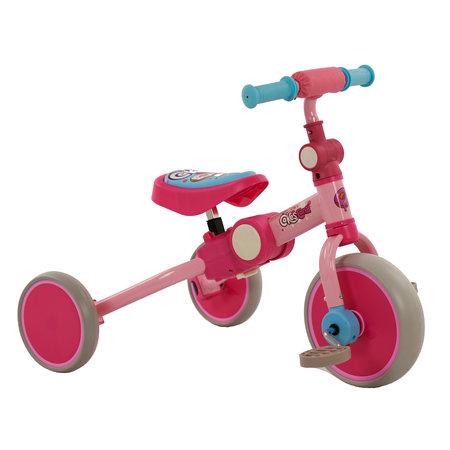 2Cycle 2Cycle 4 in 1 Dreirad-Laufrad - Rosa