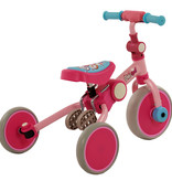 2Cycle 2Cycle 4 in 1 Driewieler-Loopfiets - Roze