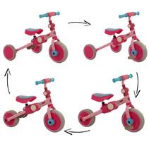 2Cycle 4 in 1 Driewieler-Loopfiets - Roze