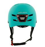 Sajan Sajan Fahrradhelm - Skathelm - Helm matt-Türkis- LED-Beleuchtung - Größe-S