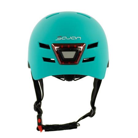 Sajan Sajan Fietshelm - Skatehelm - Helm Mat-Turquoise  - LED Verlichting - Maat-S