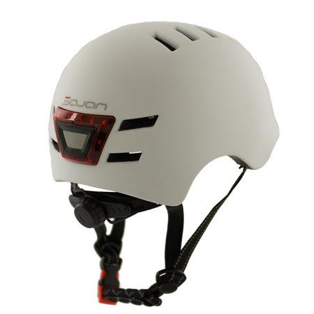 Sajan Sajan Fietshelm - Skatehelm - Helm Mat-Wit - LED Verlichting - Maat-S