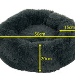 Sajan Sajan Hundebett 50cm - Donut - Super Soft - Waschbar - Grau