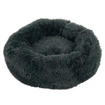 Sajan Hundebett 50cm - Donut - Super Soft - Waschbar - Grau