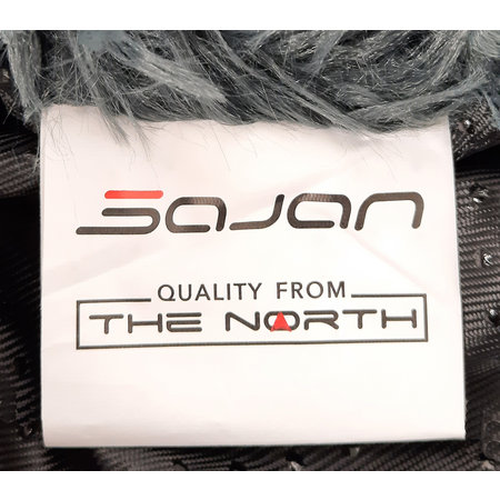 Sajan Sajan Hundebett 60cm - Donut - Super Soft - Waschbar - Grau
