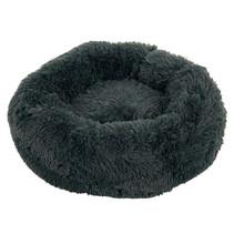 Sajan Hundebett 60cm - Donut - Super Soft - Waschbar - Grau